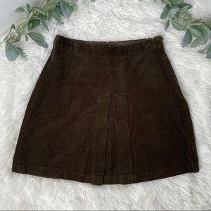 Zara Basics Brown Corduroy Mini Skirt